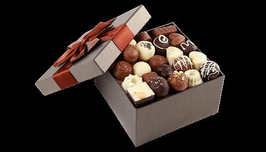 Presenter med choklad