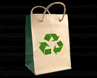 Miljövänlig papperspåse recycling