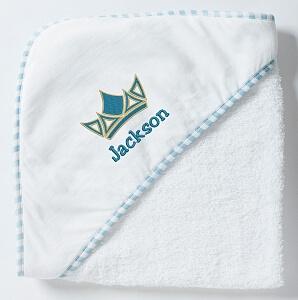 Blå krona badcape