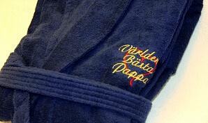 Vikt badrock med brodyr