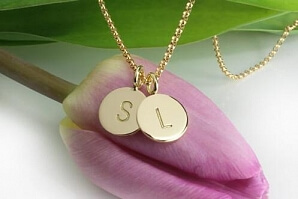 Guldhalsband med initial