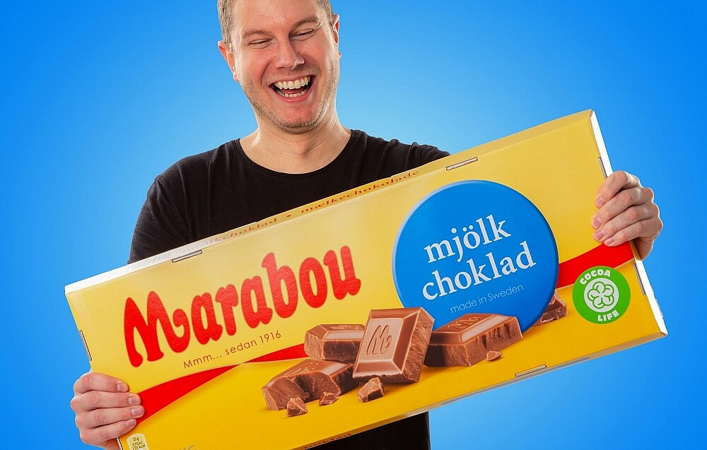 Gigantisk Marabou mjölkchoklad