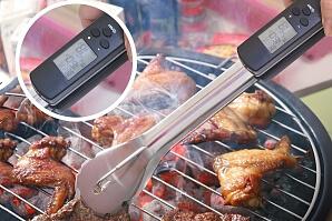 Grilltång med termometer