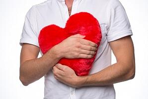 Hjärtformad värmekudde