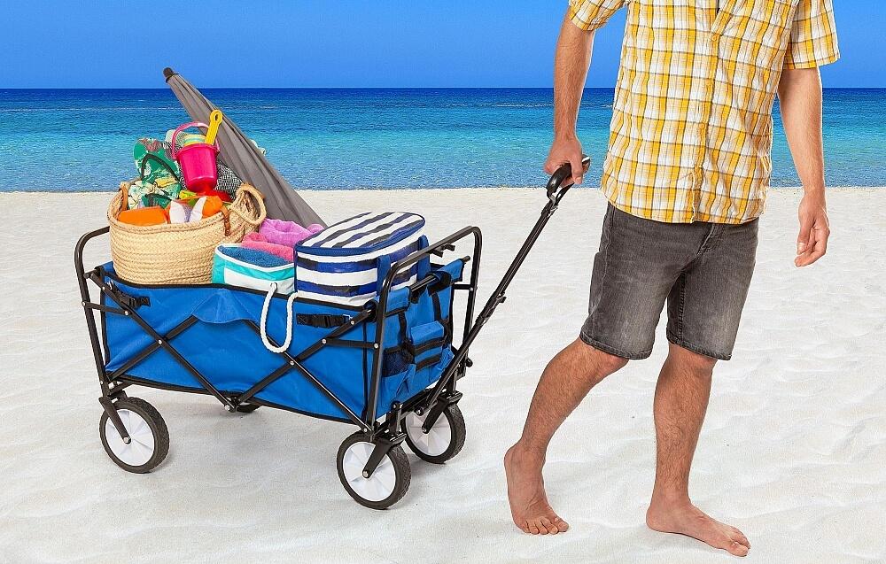 Hopfällbar vagn strand