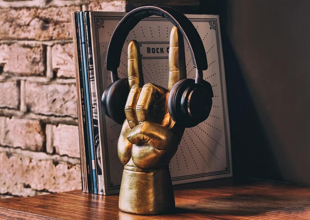 Hörlurshållare rock