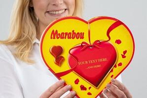 Chokladhjärta med egen text