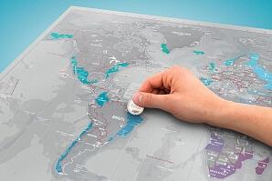 Skrapbar karta till globetrottern