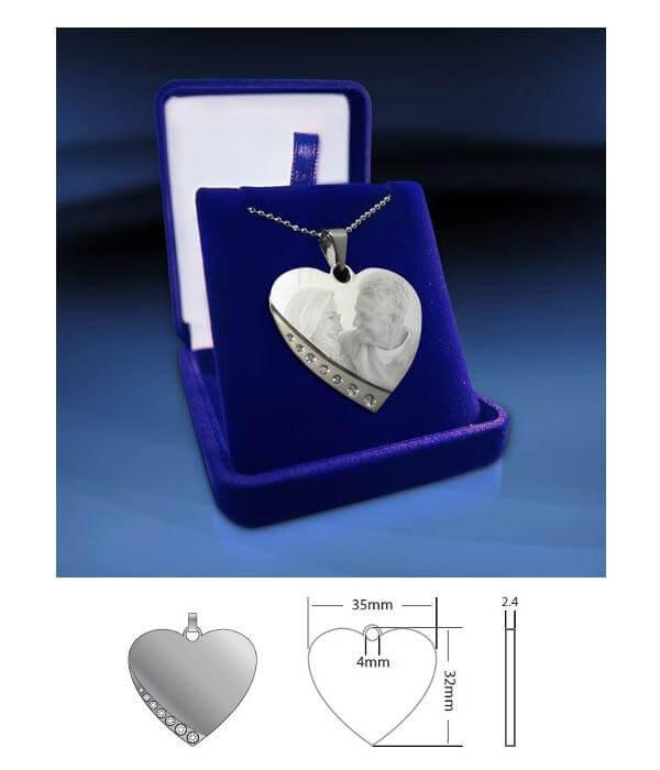 Hjärtformat smycke