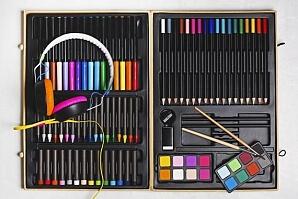 Stor målarlåda till unga konstnärer