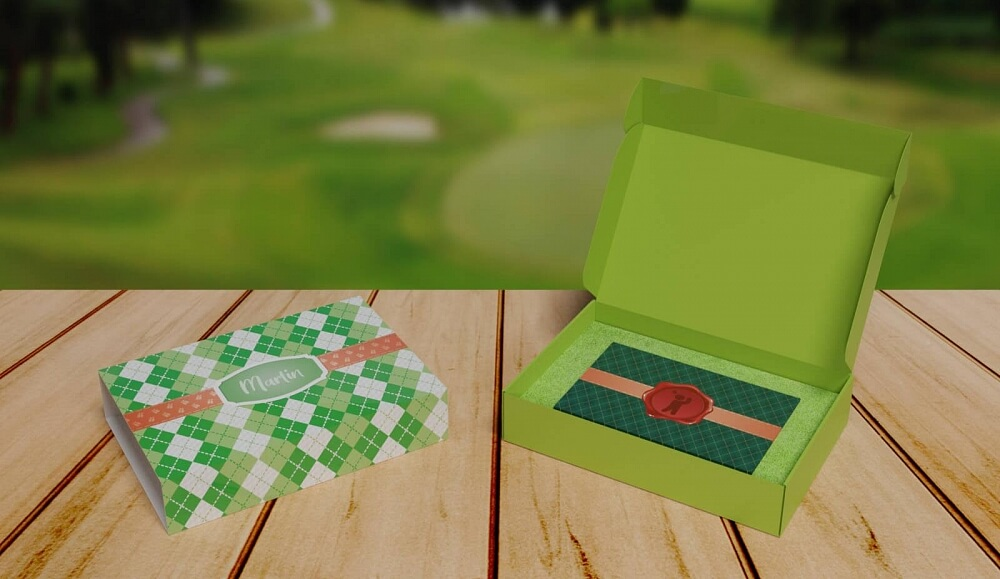 Ekobox med golf tema