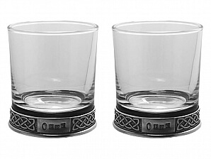 2 glas i keltisk stil