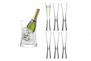 Champagneglas och vinkylare LSA Moya