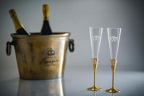 Graverbara champagneglas