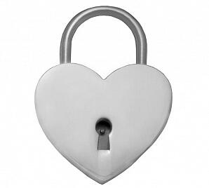 Kärlekslås i silver