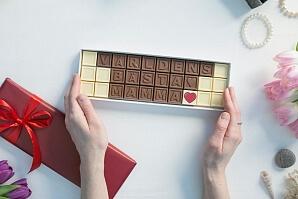 Personlig chokladask till mamma