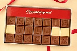 Personlig chokladask till studenten