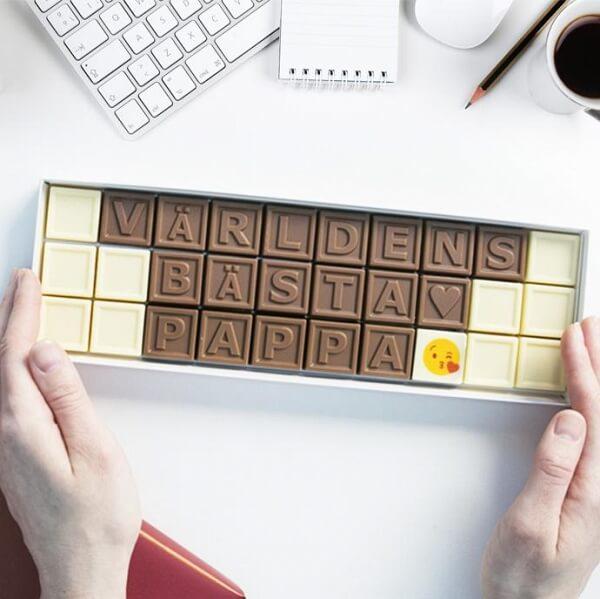 Chokladask till världens bästa pappa