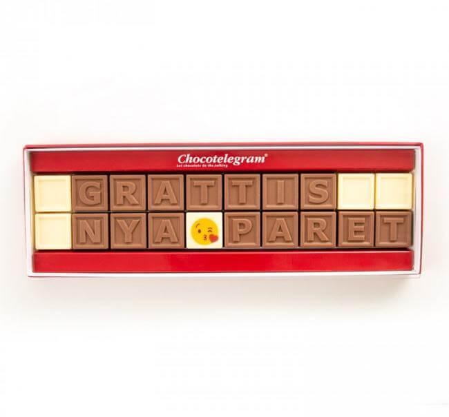choklad med personlig hälsning