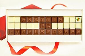 Personlig chokladask på födelsedagen