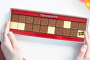 Personlig chokladask - bokstäver i choklad