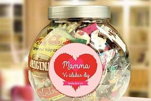 Personlig godisburk till mamma