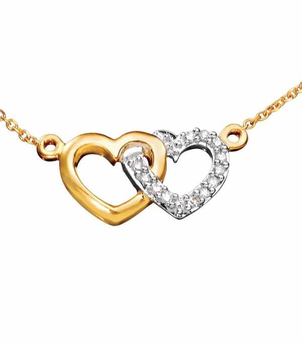 Diamanthalsband 18k guld