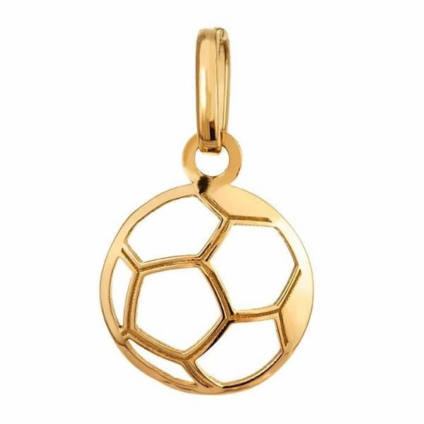Sportigt hängsmycke i guld