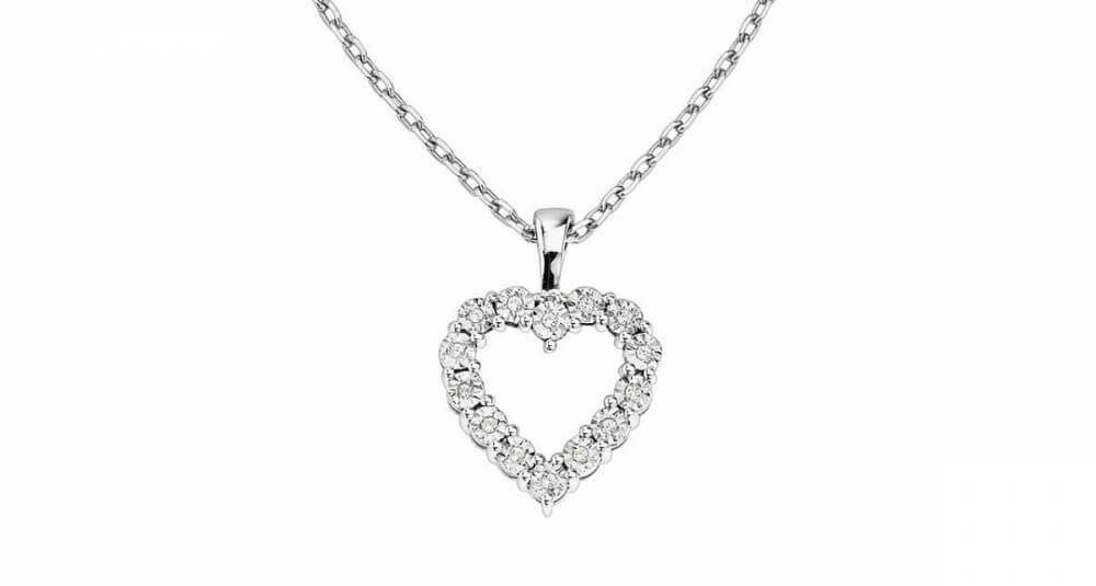 Hjärta diamanthalsband