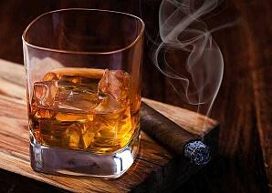Cigarr- och whiskyprovning