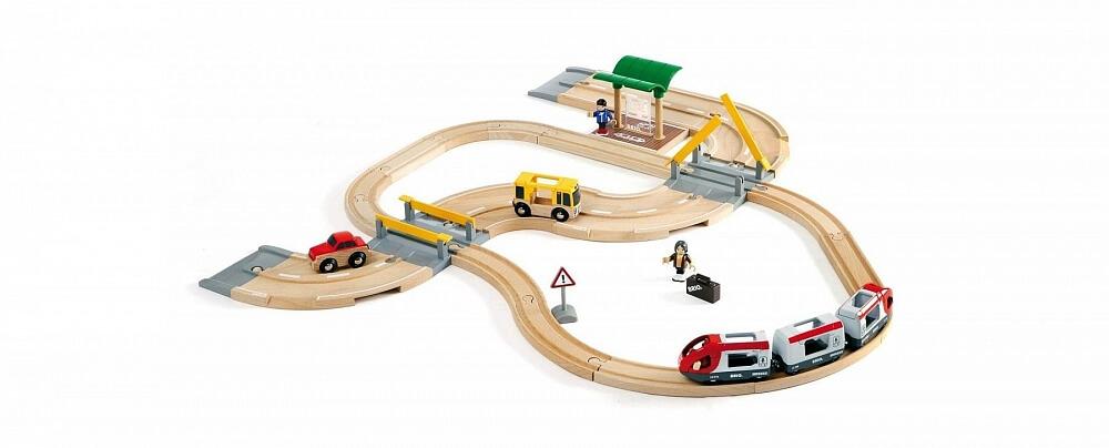 Tågset bil och persontåg BRIO