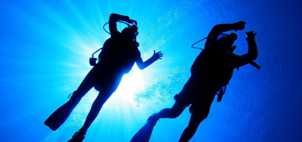 Dykare i havet
