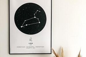 Tavla med ditt stjärntecken