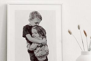 Illustrerad syskontavla