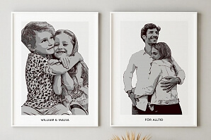 Illustrerad tavla från eget fotografi