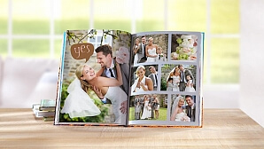Fotobok för bröllop