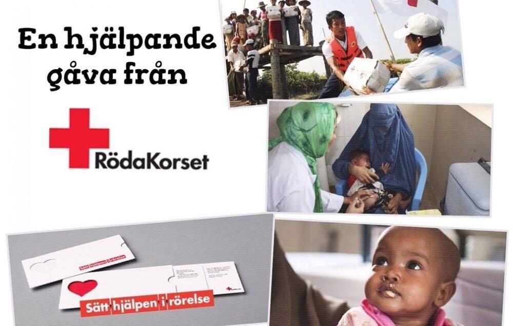 Röda Korset hjälpande gåva