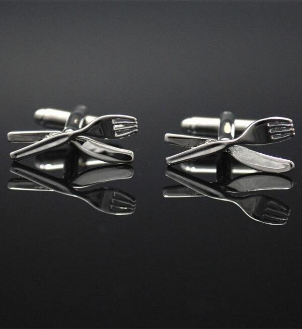 Manschettknappar kniv & gaffel