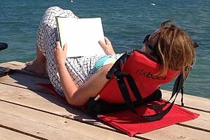 Ryggstöd när du läser bok