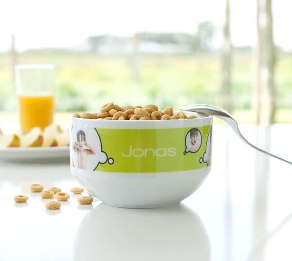 Personlig frukostskål med foto