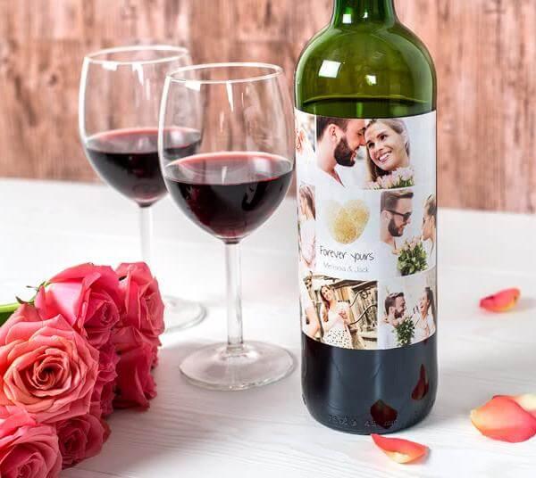 Romantiska etiketter till flaskor