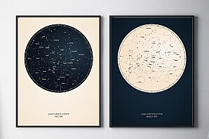 Tavla stjärnhimmel födelsedag
