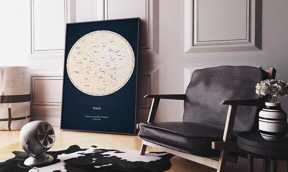 Tavla stjärnhimmel rum