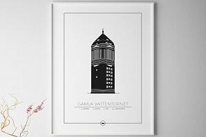 Tavla Gamla Vattentornet