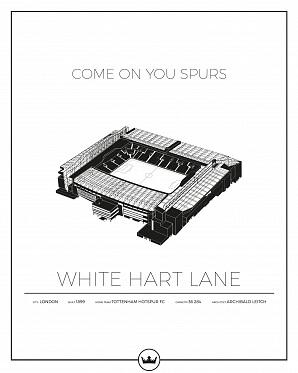 White Hart Lane - Tottenham poster
