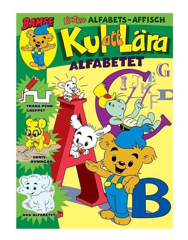 Bamse tidning Kul att lära alfabetet