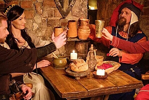 Historia provsmakning av mat och vin