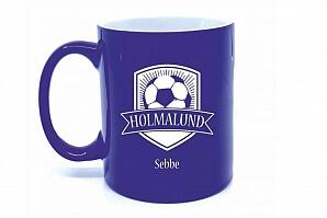 Kaffemugg med fotboll