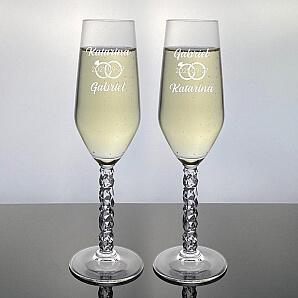 Karat champagneglas - Ringar